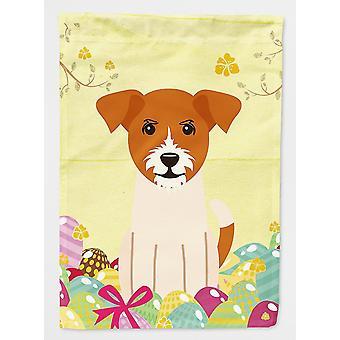 Flags windsocks carolines treasures bb6108gf easter eggs jack russell terrier flag garden size