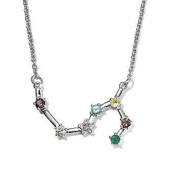 TJC Multi Gemstone Scorpio Necklace for Women Gold Plated Silver 20 '' 1.83ct