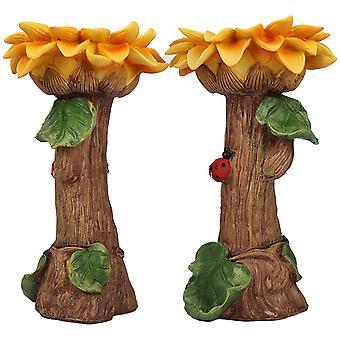 Rășină floarea soarelui floarea soarelui și bird baie grădină decorare personalizare