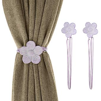 1 Pair Of Resin Flower Curtain Buckle With Strong Permanent Magnet