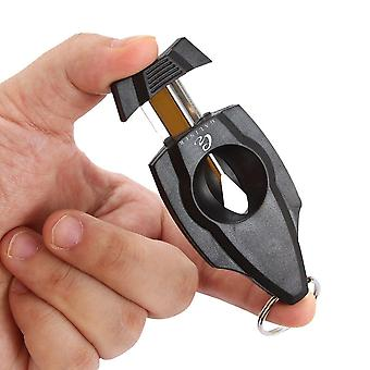 Pocket Cigar Cutter V Cut Stainless Steel Plastic Cigar Guillotine Scissors Accessories