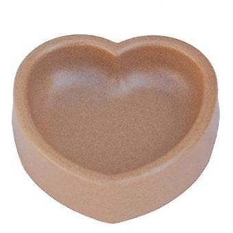Freedog Heart Bamboo Bowl Brown (Dogs , Bowls, Feeders & Water Dispensers)