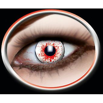 Contact lens bloody white lens 1 pair Carnival Halloween
