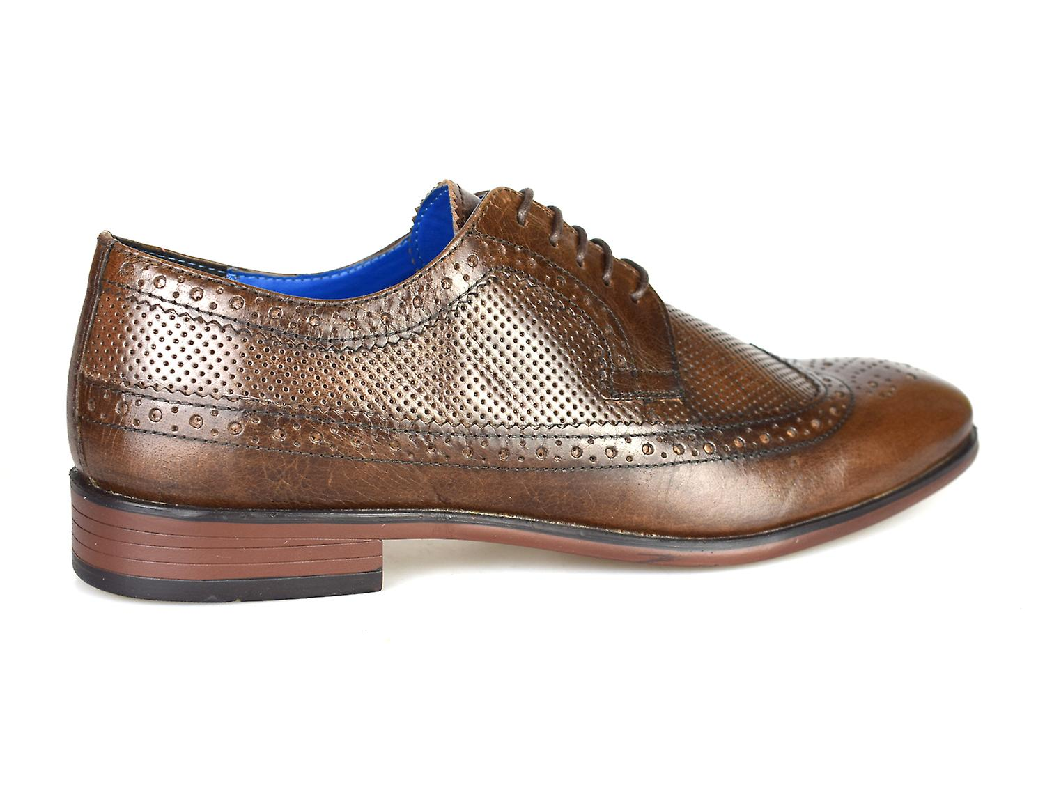 La paperasserie Leslie Brown Leather Brogue robe chaussures h6oiJZ
