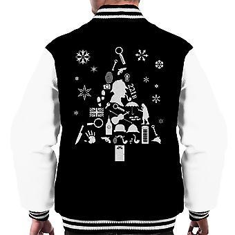 Christmas Tree Sherlock Holmes Men's Varsity Jacket