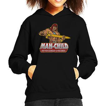 Man Child Son Of Zorn Kid's Hooded Sweatshirt