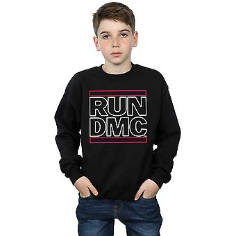 Run DMC Boys Neon Logo Sweatshirt