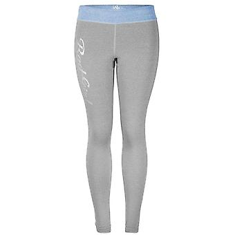 Bad Girl Logo Long Fitness Tights - Charcoal Marl/Blue Marl