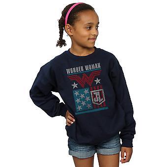 DC Comics Girls Justice League Film Wonder Woman Flagge Sweatshirt