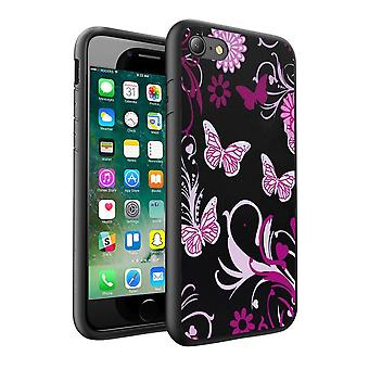 i-Tronixs Samsung Galaxy J5 2016 Pink Butterfly Design Printed Case Skin Cover - 011