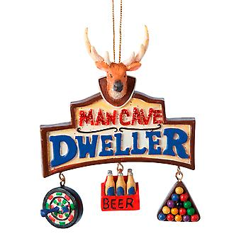 Kurt Adler Man Cave Dweller Deer Head Darts 6 Pack of Beer Pool Ornament