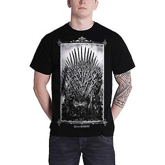 Game Of Thrones T Shirt Win ou Die fer trône Mens officiel New Black