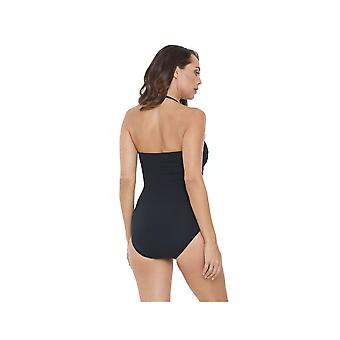 Seaspray SY005543A Women's Black Solid Colour Costume One Piece Swimsuit
