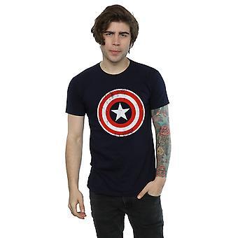 Marvel Men's Captain America Cracked Shield T-Shirt