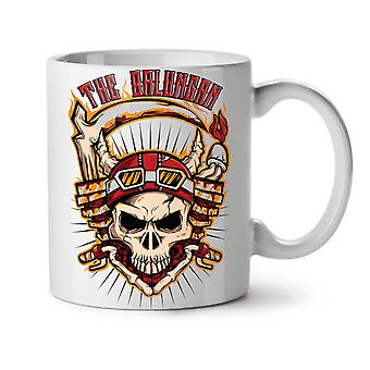 Skull Head NEW White Tea Coffee Ceramic Mug 11 oz | Wellcoda