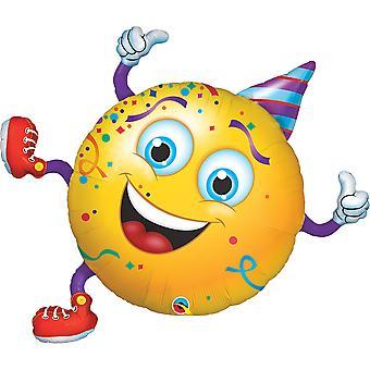 Stagnola pallone smiley festa compleanno festa leone circa 96 cm di altezza