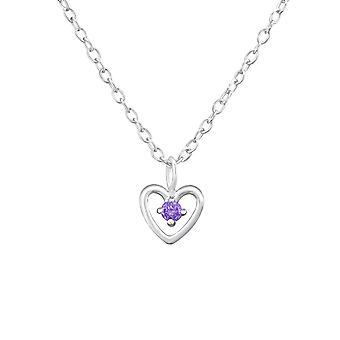 قلب جوهره-925 فضة جولد قلادات-W34854x