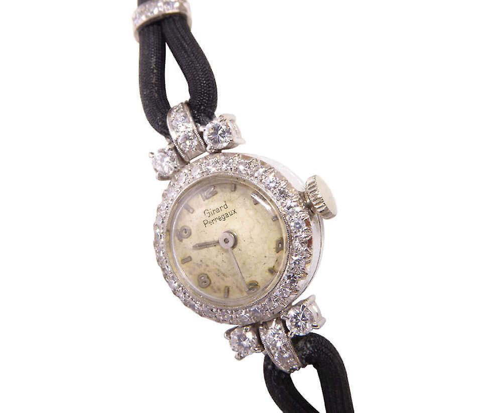 White Gold Diamond Girard Perregaux watch