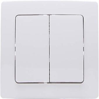 Kopp Free Control 4-Kanal Wireless Wand-Schalter PARIS 2/4 Arctic White