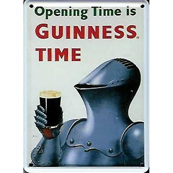 Guinness Knight In Armour Mini Sign / Metal Postcard