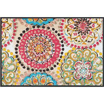 lavage + saleté lavable sec fresque vintage mat mat motif floral