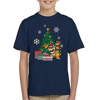 Bowser rund um den Weihnachtsbaum Kinder T-Shirt