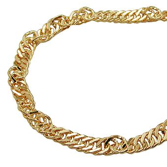 Singapore chain diamantiert 3mm gold plated AMD 70cm