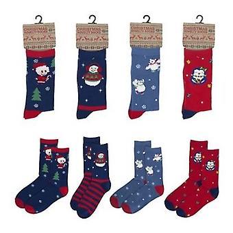Ladies Novelty Festive Xmas Christmas Gift Socks Size 4/7