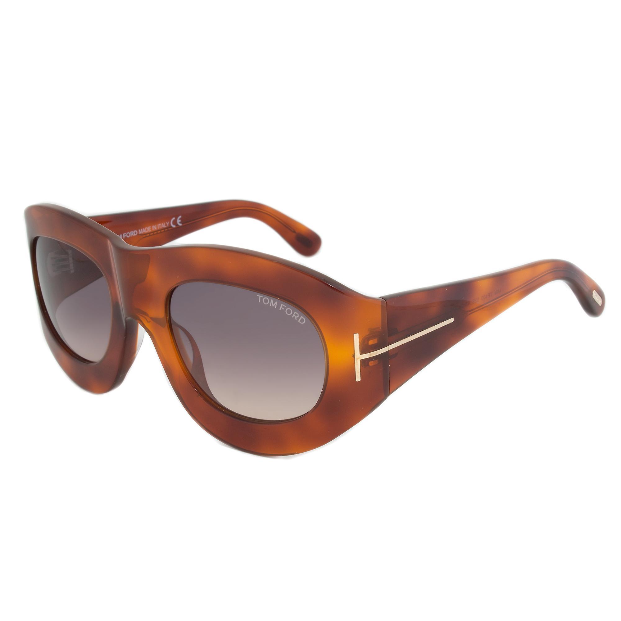 Tom Ford FT0403 52B Mila Square Sunglasses | Havana Frame | Grey Gradient Lens