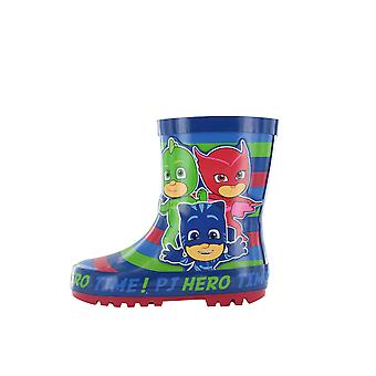 PJ Masks Boys Iddings Slip On Wellington Boots UK Sizes Child 5-12