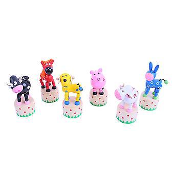 Bigjigs Toys Farm Animal Pushup (Pack of 2)