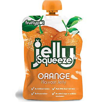 Fruitypot Orange Jelly Squeeze Pouches