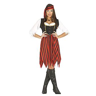 Womens overzee piraat Fancy Dress kostuum
