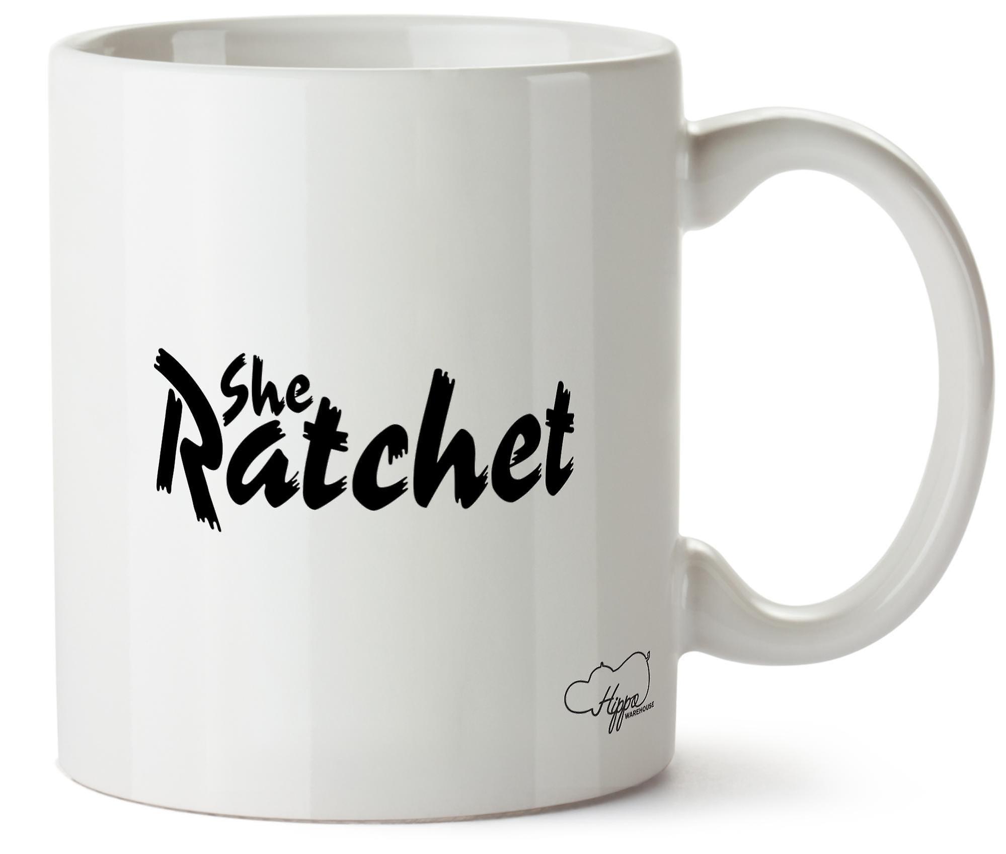 Hippowarehouse She Ratchet 10oz Mug Cup