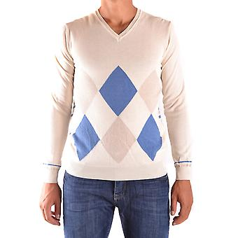 Daniele Alessandrini Ezbc107059 Men's Beige Cotton Sweater
