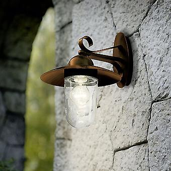 EGLO Milton utomhus IP44 antik brun galvaniserat stål vägg ljus