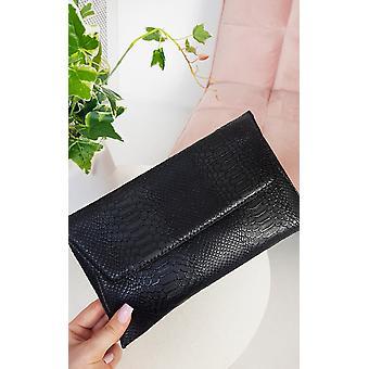 IKRUSH Womens Tilda Faux Leather Envelope Clutch Bag