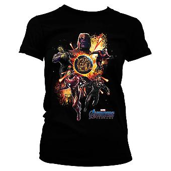Women's Avengers Endgame Black Fitted T-Shirt