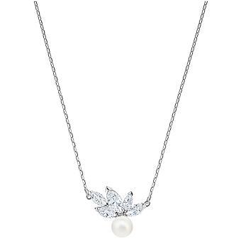 Swarovski Perle Louison pendentif - White - Rhodium 5422685 de placage