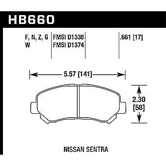 Hawk prestaties HB660F. 661 HPS