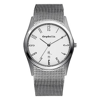 ORPHELIA Mens analoog horloge Mesh Up zilver roestvrij staal 122-7702-88