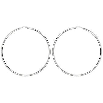 Bella 50mm Hoop Earrings - Silver