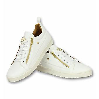 Shoes - Sneaker Bee White Gold - White