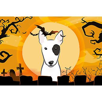 Carolines Treasures  BB1767PLMT Halloween Bull Terrier Fabric Placemat