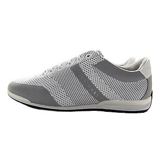 Hugo Boss Saturn Low Knit Trainers Grey