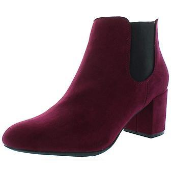 Bar III Womens Camelia Fabric Round Toe Ankle Platform Boots