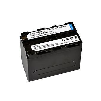 BRESSER Lithium-Ionen Ersatzakku für Sony NP-F960/F970