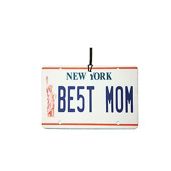 New York - Best Mom License Plate Car Air Freshener