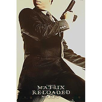 The Matrix Reloaded (Single Sided Advance Agent Smith) (Uv Coated/High Gloss) Original Cinema Poster