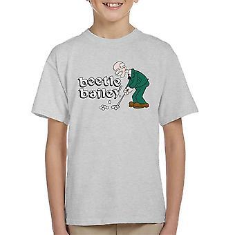 Beetle Bailey General Halftrack Golf Kid's T-Shirt
